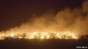 Straw Bale Fire