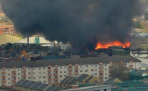 Warehouse Fire Canning Town