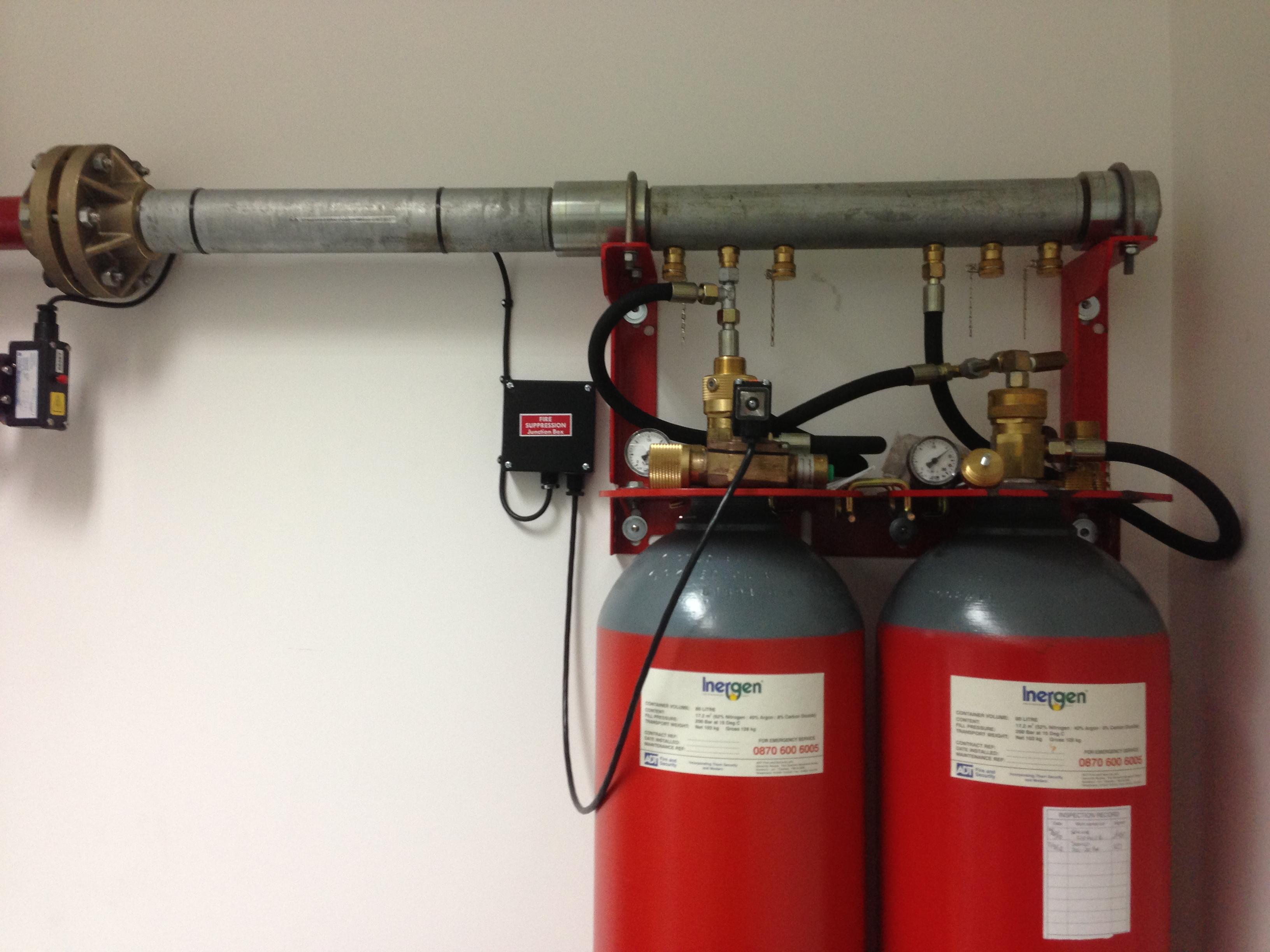 Inergen 200 bar 2 Cylinder Manifolded System